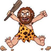 Angry caveman — Stock Vector