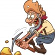 Old miner - Stock Vector
