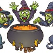 Royalty-Free Stock Vector Image: Evil cartoon witches