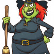 Royalty-Free Stock Vector Image: Evil cartoon witch