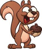 Cartoon squirrel — Stock Vector