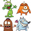 Постер, плакат: Cartoon monsters and aliens