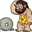 Stock Vector: Cartoon caveman