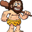 Cartoon caveman — Stock Vector