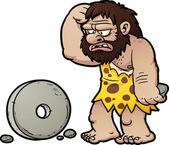 Cartoon caveman — Stock Vector