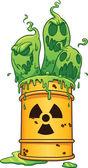Radioactive waste — Stock Vector
