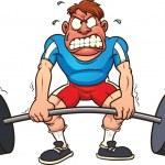 Cartoon weightlifter — Stock Vector #12686470