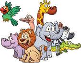 African safari animals — Stock Vector