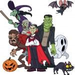 Classic Halloween characters — Stock Vector #12821568