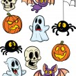 Halloween elements — Stock Vector