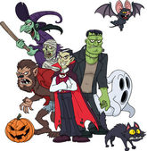 Classic Halloween characters — Stock Vector