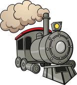 Tren de dibujos animados — Vector de stock