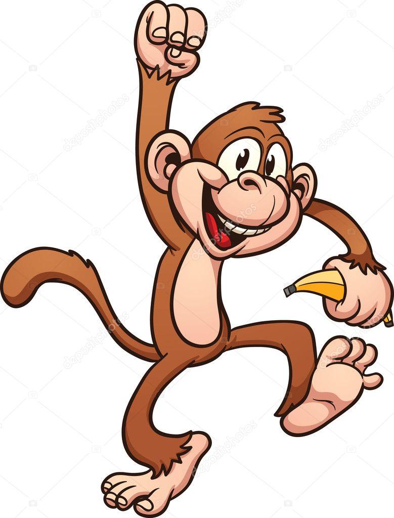 Scimmia di cartone animato — vettoriali stock