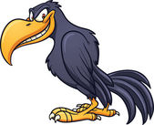 Evil crow — Stock Vector