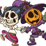 Dia de muertos and Halloween — Stock Vector #14151765