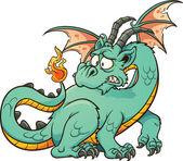 Cartoon dragon — Stock Vector