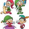 Christmas elves — Stock Vector #14582557