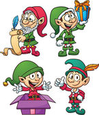 Christmas elves — Stock Vector
