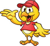 漫画の鶏 — ストックベクタ