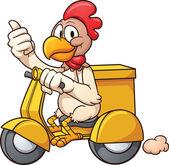 Delivery chicken — Stock Vector