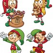 Royalty-Free Stock Vector Image: Christmas elves