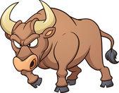 Wściekły byk — Wektor stockowy