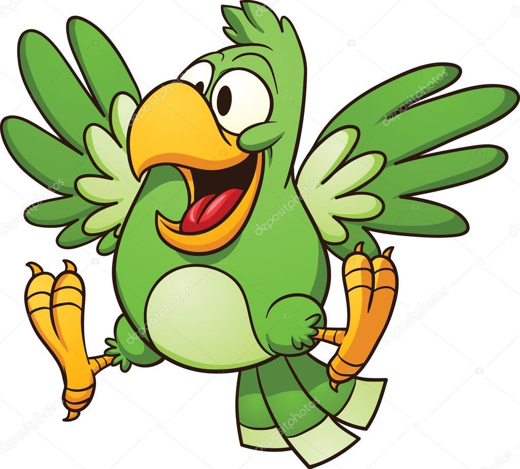 Herunterladen - Cartoon-Papagei — Stockillustration #16040631