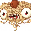 Spaghetti monster - Imagens vectoriais em stock
