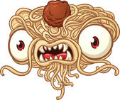 Spaghetti monster — Stock Vector
