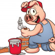 Royalty-Free Stock Vector Image: Pig construction worker