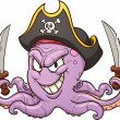 Pirate octopus - Vektorgrafik