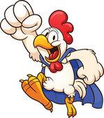 Super chicken — Stock Vector