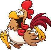 Crazy chicken — Stock Vector