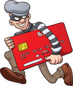 Credit card thief — Stock Vector