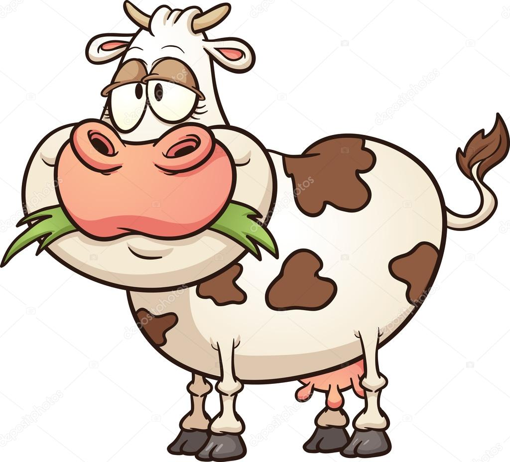 Cartoon cow stock illustration
