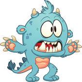 Turquoise monster — Stock Vector