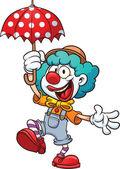 Cartoon clown — Stock Vector
