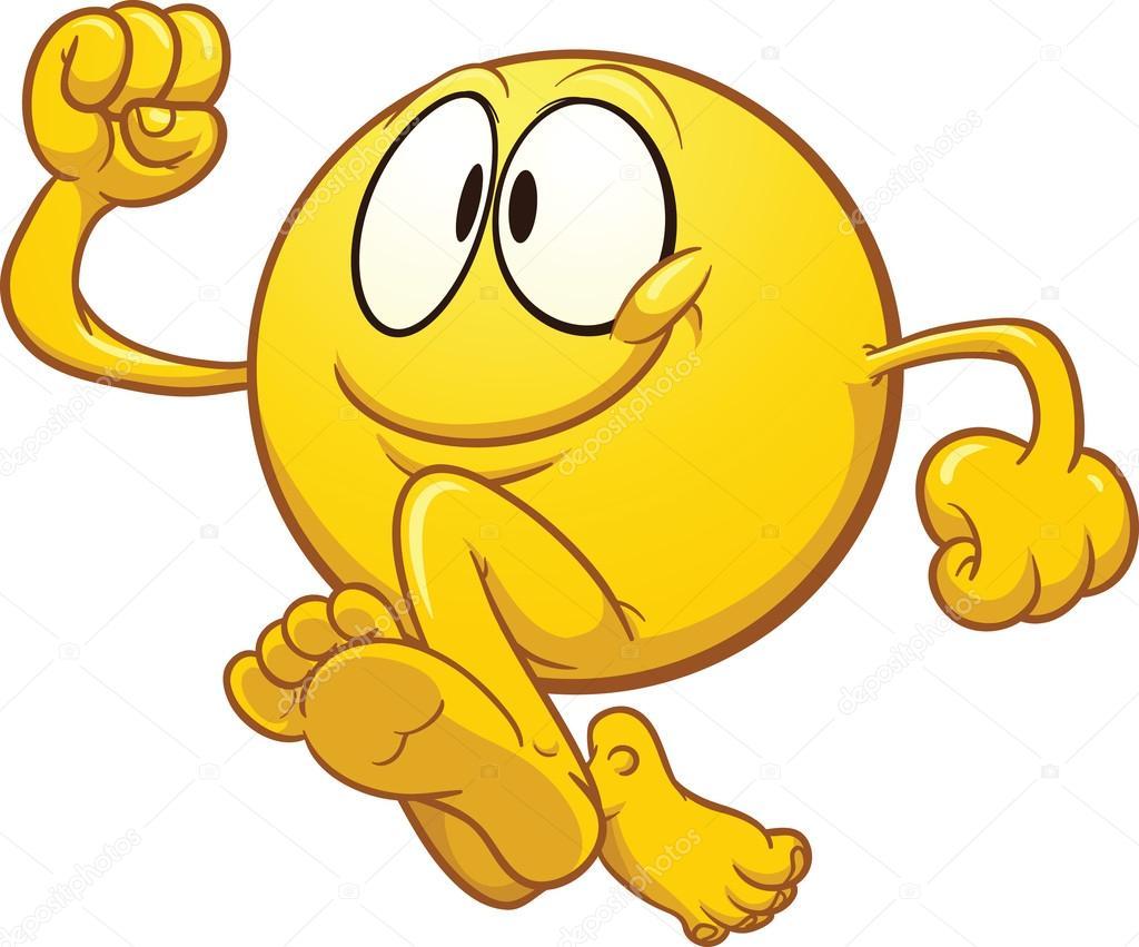 Emoticono amarillo corriendo — Vector de stock © memoangeles ...