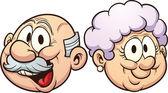 Cartoon grandparents — Stock Vector