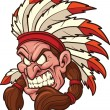 Indian chief mascot — Imagen vectorial