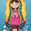 Stock Vector: Virgin of Guadalupe