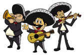 Cartoon mariachis — Stock Vector