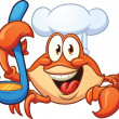 Stock Vector: Crab chef