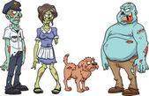 Cartoon zombie characters — Stock Vector