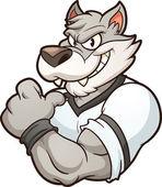 Wolf mascot — Stock Vector