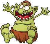 Fat troll — Stock Vector