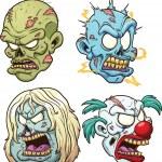 Zombie heads — Stock Vector #23703495