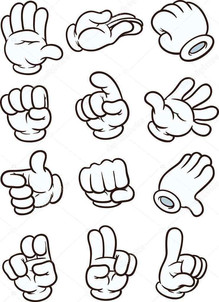 Рисованные мультяшные руки