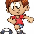Stock Vector: Soccer kid