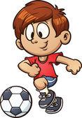 Soccer kid — Wektor stockowy